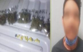 Narcomenudista es detenido con marihuana y cristal
