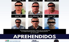 Llegan al CERESO 6 individuos con cuentas pendiente con la justicia