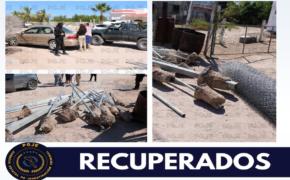 En cateo PGJE recupera tubería de acero en domicilio de El Centenario