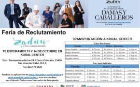 Del 13 al 14 de octubre, se van a ofertar 72 fuentes de empleo para el Hotel Zadún Ritz Carlton en Los Cabos